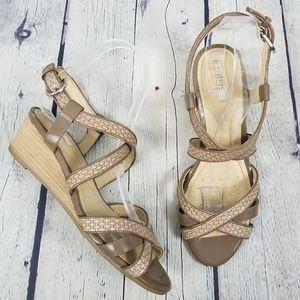 GEOX | Respira strappy wedge basket weave sandals
